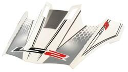 LS2 MX433 batten penne blanc deco
