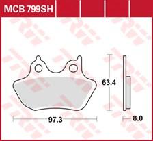 TRW Plaquettes de frein SV/SH MCB799SH