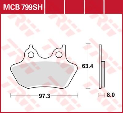 TRW SV/SH Remblokken MCB799SH