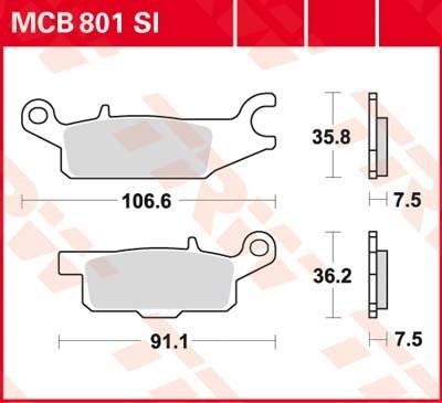 TRW SI Remblokken sinter metaal MCB801SI