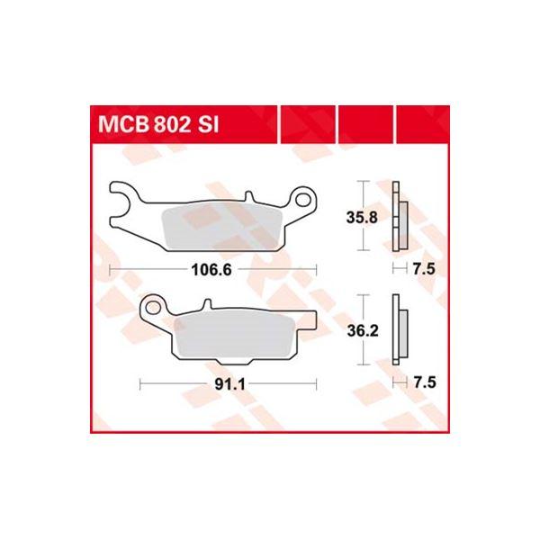 TRW SI Remblokken sinter metaal MCB802SI