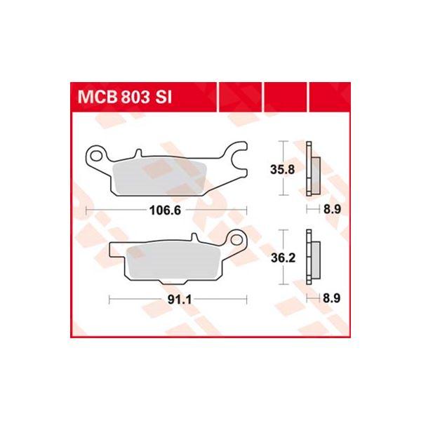 TRW SI Remblokken sinter metaal MCB803SI