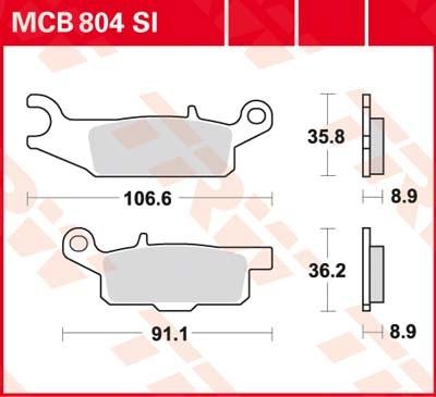 TRW SI Remblokken sinter metaal MCB804SI