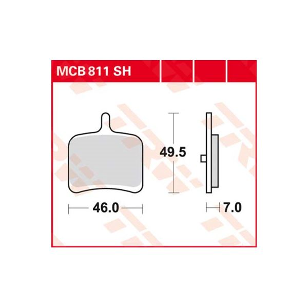 TRW SV/SH Remblokken MCB811SH