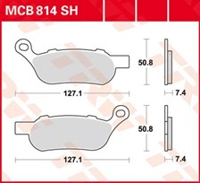 TRW Plaquettes de frein SV/SH MCB814SH