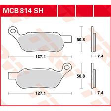 TRW SV/SH Remblokken MCB814SH