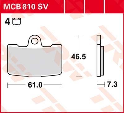 TRW SV/SH Remblokken MCB810SV