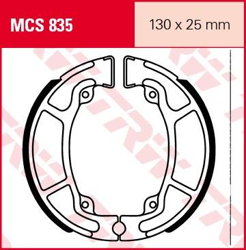 TRW Remschoenen MCS835