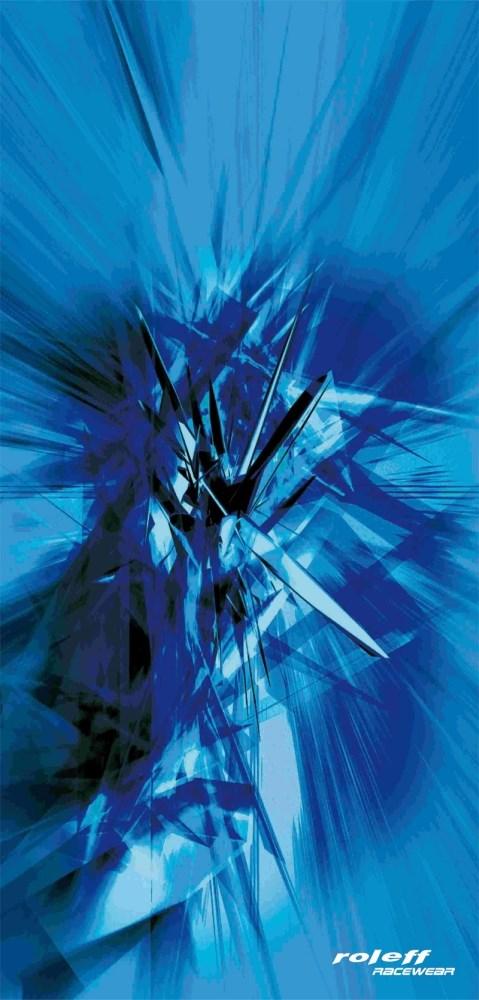 ROLEFF TUBULAR SCARF GRAFIC BLUE