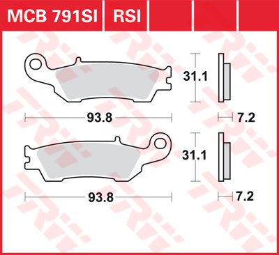 TRW RSI remblokken MCB791RSI