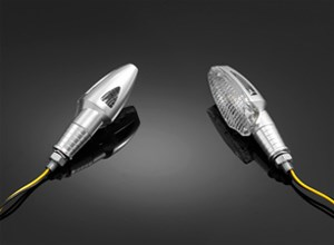 """HIGHWAY HAWK """"Alu"""" 2-Way Turnsignal sets Zilver geanodiseerd"""