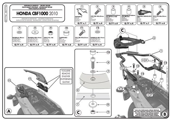 GIVI Support topcase Monolock - SR M SR777M