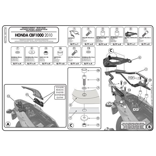 GIVI Topkofferhouder Monolock - SR M SR777M