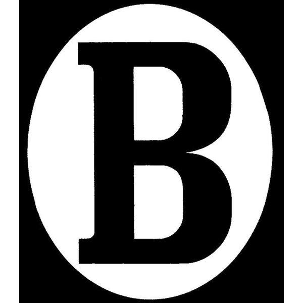 "RAD Autocollant ""B"" ovale verticale"