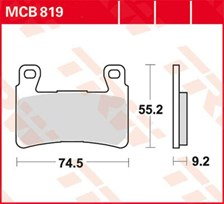 TRW Plaquettes de frein SV/SH MCB819SV