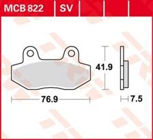 TRW Plaquettes de frein organique MCB822
