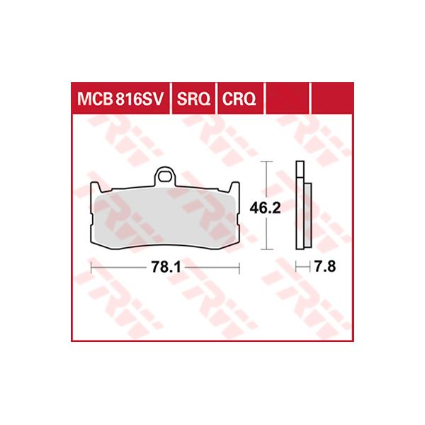 TRW CRQ remblokken MCB816CRQ