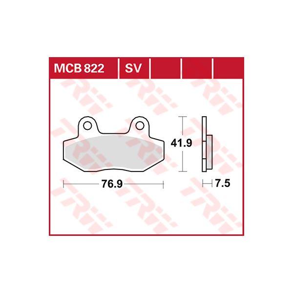 TRW SV/SH Remblokken MCB822SV
