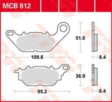 TRW Plaquettes de frein organique MCB812