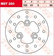 TRW Disque de frein MST250