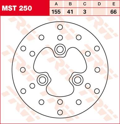 TRW MST disque de frein fixe MST250