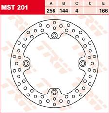 TRW MST vaste remschijf MST201