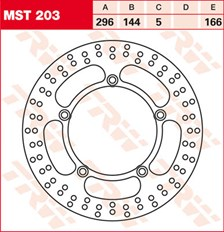 TRW Disque de frein MST203