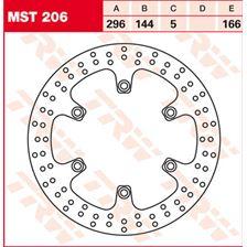 TRW MST vaste remschijf MST206