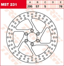 TRW Disque de frein MST231