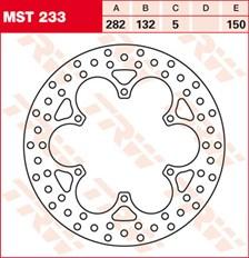 TRW Disque de frein MST233