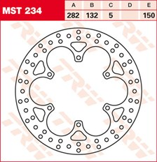 TRW MST vaste remschijf MST234