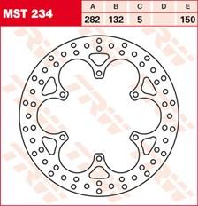 TRW MST disque de frein fixe MST234