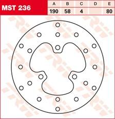 TRW Disque de frein MST236
