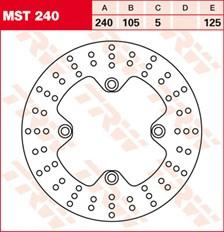 TRW Disque de frein MST240