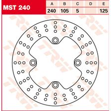 TRW MST vaste remschijf MST240