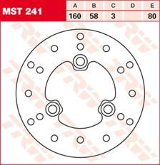 TRW MST disque de frein fixe MST241