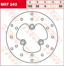 TRW MST disque de frein fixe MST243