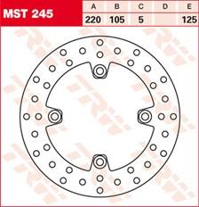 TRW MST vaste remschijf MST245