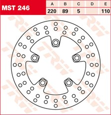 TRW Disque de frein MST246