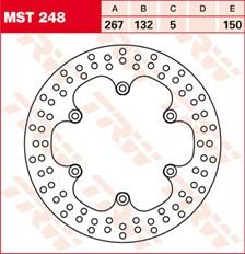 TRW Disque de frein MST248