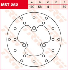 TRW MST disque de frein fixe MST252