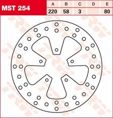 TRW Disque de frein MST254