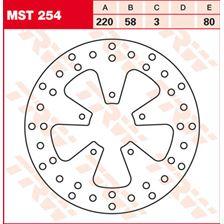 TRW MST vaste remschijf MST254