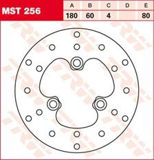 TRW MST disque de frein fixe MST256