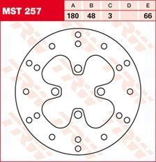 TRW MST disque de frein fixe MST257