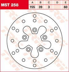 TRW MST disque de frein fixe MST258
