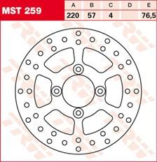 TRW Remschijf MST259