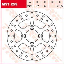 TRW MST vaste remschijf MST259