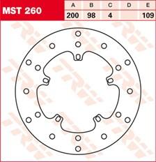 TRW MST disque de frein fixe MST260