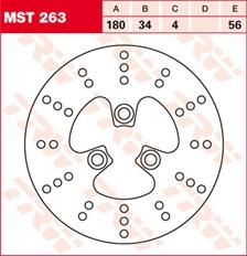 TRW MST disque de frein fixe MST263